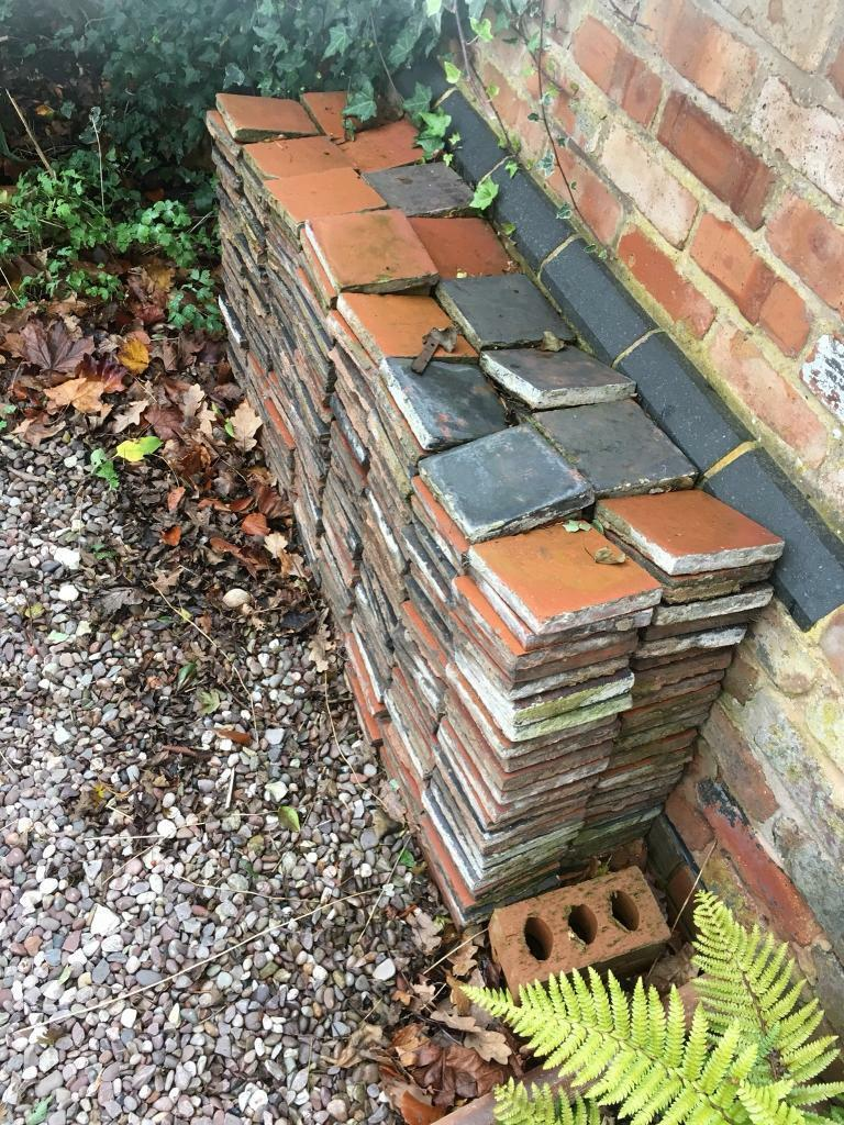 350+ reclaimed Victorian quarry tiles