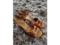 "Ballroom Latin dance shoes size 3.5 heel 2"""