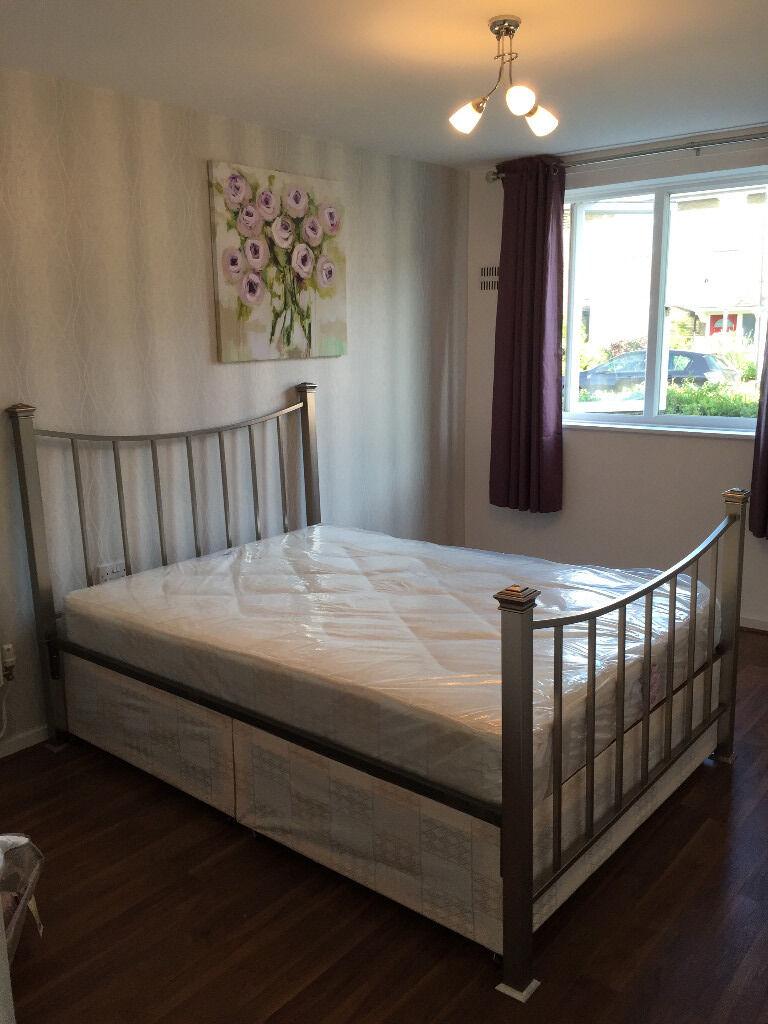 Marks Spencer Bedroom Furniture Double Divan Bed Silver Metal Bed Frame Marks And Spencer In