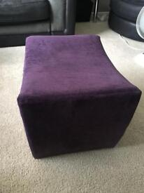 Purple dressing table stool/ chair