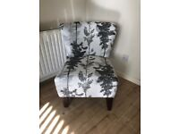 Fabb Sofa - Curved Armless Chair / Accent Chair (Fairly New)