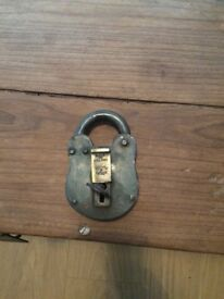 Vintage Made in England Secure 2 Lever Padlock and Key