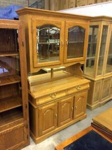 Honey Wood Kitchen Cabinet - Used, Excellent Condition -