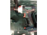 Metabo 18v combi drill brushless with impulse bare unit and case