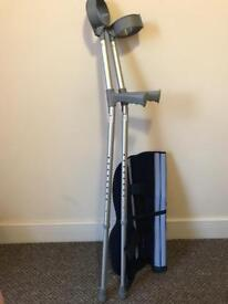 Crutches and Leg Brace