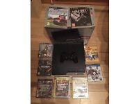 PS3 Slim 320GB Console with 9 Games