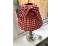 Table lamp red check