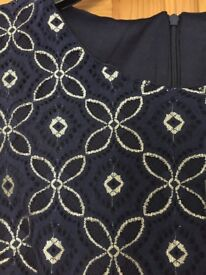 Navy & Gold Lace Dreaa