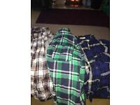 3 x check shirts all great condition