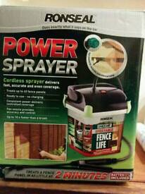 Ronseal Power Sprayer, battery operated