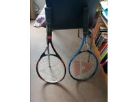 Dunlop and Donnay tennis rackets