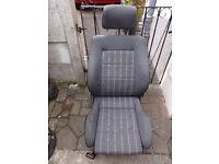 Vw Golf Gti, 5 door Mk2 Drivers Seat fantastic condition! grey check tartan material.