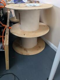 Cable drums x 4 (perfect for DIY projects)