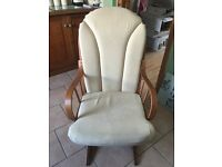 Rocking chair and rocking stool great condition my daughter have space for it.