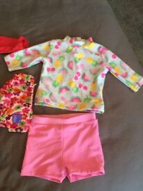 Swimwear sets baby girl 3-6 months Mothercare and George