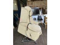 Rise and recliner armchair in beige m