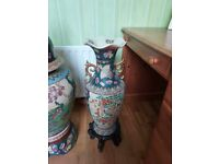 3 Large Chinese urns