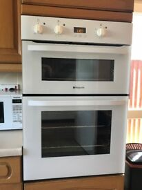 Hotpoint Built-in White Double Oven with Grill 'A' Rated & Excellent Condition & Fully Working