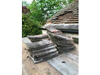 Antique clay roof tiles