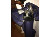Golf bag,clubs & balls