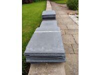 Conservatory grey slate plastic tiles