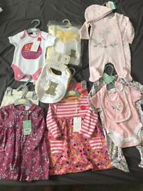 Brand new baby girl clothes bundle 0-3 and 3-6 months