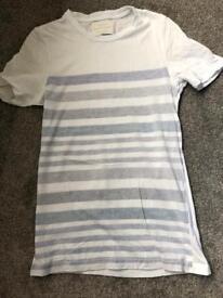 River island blue stripe tshirt xxs