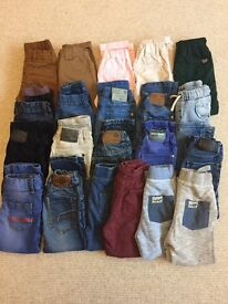 Large bundle of boys jeans/chino's age 3-4 mainly Next