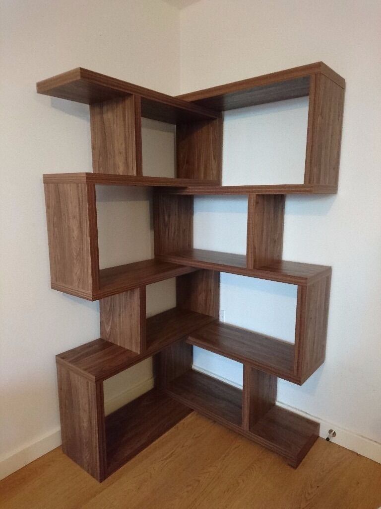 corner shelving units next mode walnut extending corner shelf unit in reading 13997