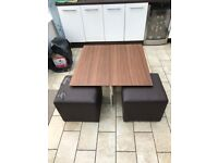 Dwell Coffee Table with 4 stools