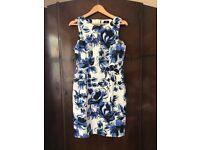 Blue White Floral Bodycon Dress