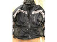 Crivit Sport Mens Motorcycle Jacket Black Size XL 46/48