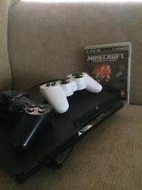 PS3 with 2 controllers and minecraft