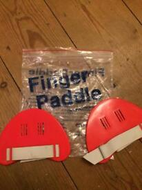 Finger Paddles, swimming aids