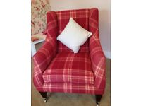 For Sale Pair of Classic Addison Accent Armchairs by Laura Ashley