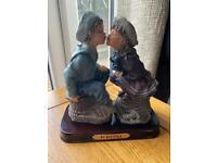 Beautiful kissing figurine