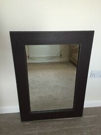 Brown faux Leather Mirror from Debenhams