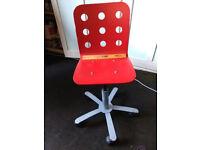 smart little red swivel chair