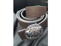 Versace medusa head brown/black reversible belt