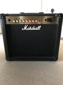 Marshall MG30FX electric guitar amp and Marshall MG foot controller