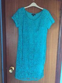 Pomodora turquoise/green Lace dress