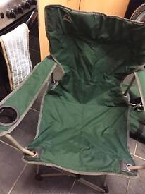 2x camping chairs with pull along case