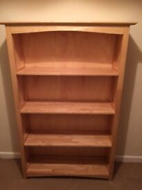 Bookcase rubber wood