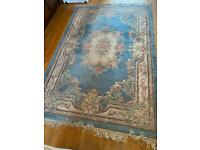 Blue classic vintage traditional Chinese style rug 8 by 6