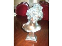 VERY PRETTY SMALL ANTIQUE BRONZE BUST