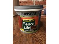 2 tubs of 5 ltr red cedar ronseal fence paint! NEW
