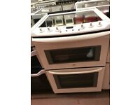 60CM WHITE ZANUSSI ELECTRIC COOKER