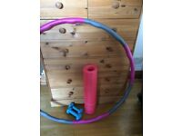 Yoga Mat + Dumbbells + Weighted Hula Hoop