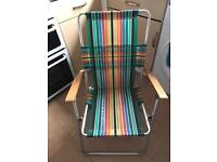 2 folding garden chairs