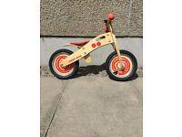 Kids John Crane Tidlo Wooden Balance Bike